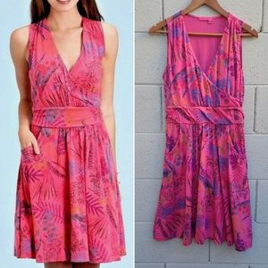 Fresh Produce   Lily Pink Tropical Floral Dress S